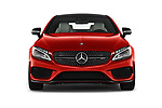 Car photography straight front view of a 2017 Mercedes Benz C-Class AMG-C43 2 Door Coupe Front View
