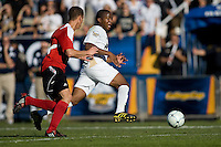 Darlington Nagbe (6) of Akron moves with the ball. 2010 NCAA D1 College Cup Championship Final Akron defeated Louisville 1-0 at Harder Stadium on the campus of UCSB in Santa Barbara, California on Sunday December 12, 2010.