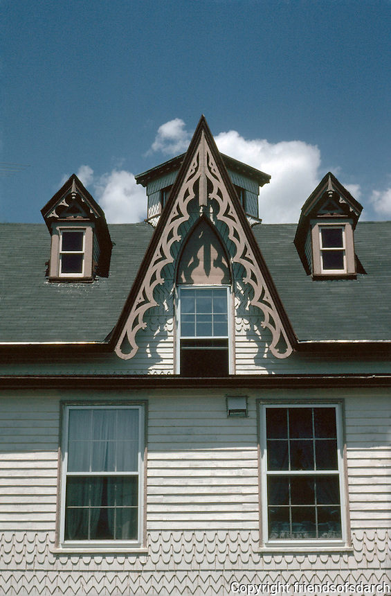 New Bedford:  Victorian Gothic--detail. 1174 Pleasant St.  Photo '91.