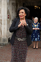 Pictured: Dame Shirley Bassey arrives as she is given the freedom of her home city, during a ceremony at the Cardiff City Hall, Wales, UK. Friday 17 May 2019<br /> Re: Dame Shirley Bassey is given the freedom of her home city, during a ceremony at the Cardiff City Hall, Wales, UK.