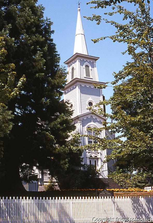 Port Gamble, WA.: St. Paul's Episcopal Church, 1870. Modeled after Congregational Church in East Machias, ME.