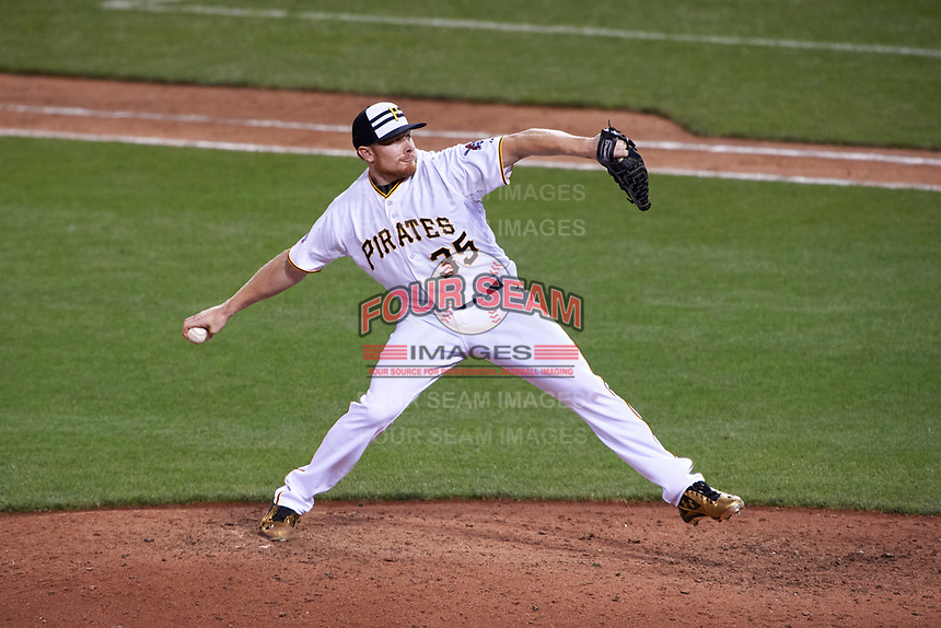 Pittsburgh Pirates pitcher Mark Melancon during the MLB All-Star Game on July 14, 2015 at Great American Ball Park in Cincinnati, Ohio.  (Mike Janes/Four Seam Images)