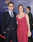 """Chris Evans and Hayley Atwell at The Marvel Studios Premiere of """" Captain America : The First Avenger """"  held at The El Capitan Theatre in Hollywood, California on July 19,2011                                                                               © 2011 DVS/Hollywood Press Agency"""