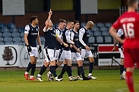 19th December 2020; Dens Park, Dundee, Scotland; Scottish Championship Football, Dundee FC versus Dunfermline; Charlie Adam of Dundee celebrates after scoring for 1-0 in the 36th minute