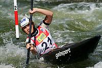 4th September 2021; Parc Olimpic del Segre, La Seu D'Urgellm ICF Slalom World Cup, Women's Kayak Final;  Elena Apel (GER)