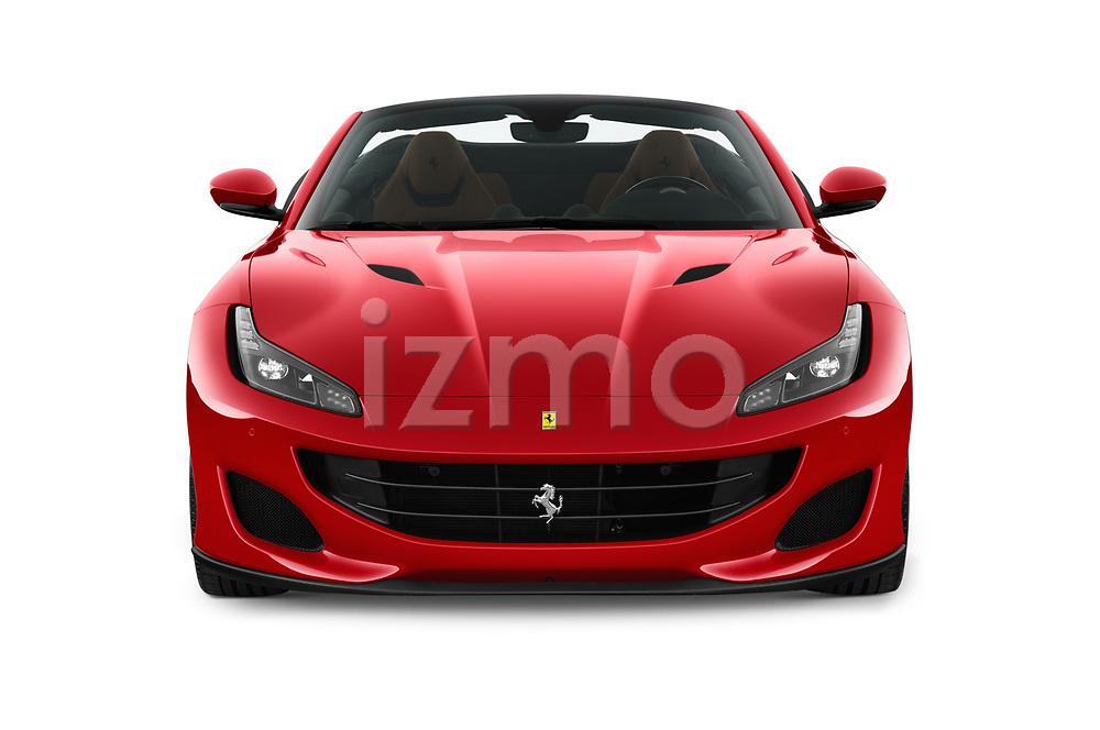 Car photography straight front view of a 2019 Ferrari Portofino base 2 Door Convertible