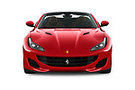 Car photography straight front view of a 2019 Ferrari Portofino base 2 Door Convertible