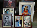 Iraq 2011       <br />  Portaits of Kurdish leaders and of Jesus Christ in the shop of a photographer in Erbil  <br /> Irak 2011 <br /> Dans le magasin d'un photographe a Erbil, des portraits de dirigeants kurdes et de Jesus Christ