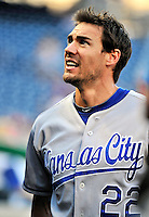 21 June 2010: Kansas City Royals left fielder Scott Podsednik prepares for the start of play against the Washington Nationals at Nationals Park in Washington, DC. The Nationals edged out the Royals 2-1 to take the first game of their 3-game interleague series and snap a 6-game losing streak. Mandatory Credit: Ed Wolfstein Photo