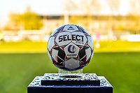 matchball pictured before a female soccer game between  AA Gent Ladies and Club Brugge YLA on the third matchday of play off 1 in the 2020 - 2021 season of Belgian Scooore Womens Super League , friday 23 th of April 2020  in Oostakker , Belgium . PHOTO SPORTPIX.BE | SPP | STIJN AUDOOREN