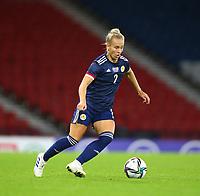 21st September 2021; Hampden Park, Glasgow, Scotland: FIFA Womens World Cup qualifying, Scotland versus Faroe Islands; Rachel McLaughlan of Scotland on the ball