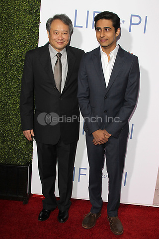 LOS ANGELES, CA - NOVEMBER 16: Ang Lee and Suraj Sharma attend the Special Screening For 20th Century Fox And Fox 2000's 'Life Of Pi' at the Zanuck Theater, 20th Century Fox Lot on November 16, 2012 in Los Angeles, California. çredit: mpi21/MediaPunch Inc.