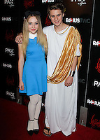 HOLLYWOOD, LOS ANGELES, CA, USA - OCTOBER 30: Sabrina Carpenter, Mitchell Kummen arrive at the Los Angeles Premiere Of RADiUS-TWC's 'Horns' held at ArcLight Hollywood on October 30, 2014 in Hollywood, Los Angeles, California, United States. (Photo by Celebrity Monitor)