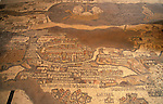 Jordan, the 6th Century Byzantine mosaic Madaba Map of the Holy Land&#xA;<br />
