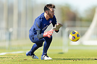 BRADENTON, FL - JANUARY 19: Matt Turner makes the save during a training session at IMG Academy on January 19, 2021 in Bradenton, Florida.