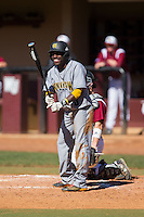 Cornell Nixon (5) of the Kennesaw State Owls at bat against the Winthrop Eagles at the Winthrop Ballpark on March 15, 2015 in Rock Hill, South Carolina.  The Eagles defeated the Owls 11-4.  (Brian Westerholt/Four Seam Images)