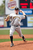 April 25 2010: Tyler Cox (36) of the Bradenton Marauders during a game vs. the St. Lucie Mets  at Digital Domain Park in Port St. Lucie, Florida. St. Lucie, the Florida State League High-A affiliate of the New York Mets, won the game against Bradenton, affiliate of the Pittsburgh Pirates, by the score of 5-4  Photo By Scott Jontes/Four Seam Images