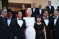 BYUNG HEEBONG, GUEST, STEVEN YEUN, TILDA SWINTON, AHN SEO-HYUN, DIRECTOR BONG JOON-HO AND PAUL DANO - RED CARPET OF THE FILM 'OKJA' AT THE 70TH FESTIVAL OF CANNES 2017