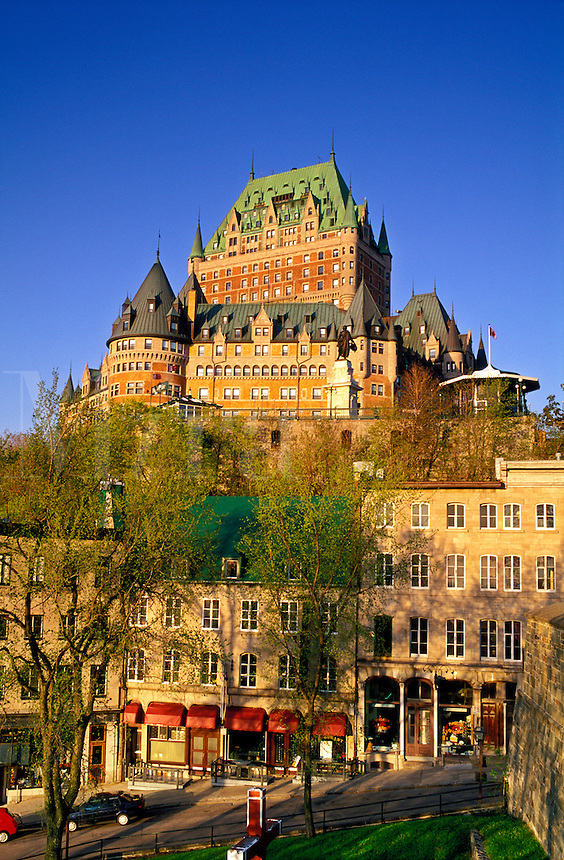 Canada, Quebec, Quebec City. Chateau Frontenac and Lower Town