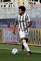 Werston Mckennie of Juventus  during the  italian serie a soccer match,Fiorentina - Juventus at  theStadio Franchi in  Florence Italy ,