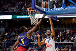 Real Madrid's Anthony Randolph and FC Barcelona Lassa's Moussa Diagne duringTurkish Airlines Euroleague match between Real Madrid and FC Barcelona Lassa at Wizink Center in Madrid, Spain. March 22, 2017. (ALTERPHOTOS/BorjaB.Hojas)