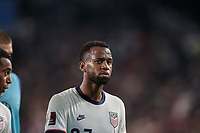 NASHVILLE, TN - SEPTEMBER 5: Kellyn Acosta #23 of the United States during a game between Canada and USMNT at Nissan Stadium on September 5, 2021 in Nashville, Tennessee.