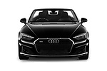 Car photography straight front view of a 2021 Audi A5-Cabriolet Avus 2 Door Convertible Front View