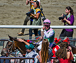 June 7, 2014: Close Hatches, ridden by Joel Rosario, wins the Ogden Phipps Stakes on Belmont Stakes Day at Belmont Park in Elmont, New York. Scott Serio/ESW/CSM