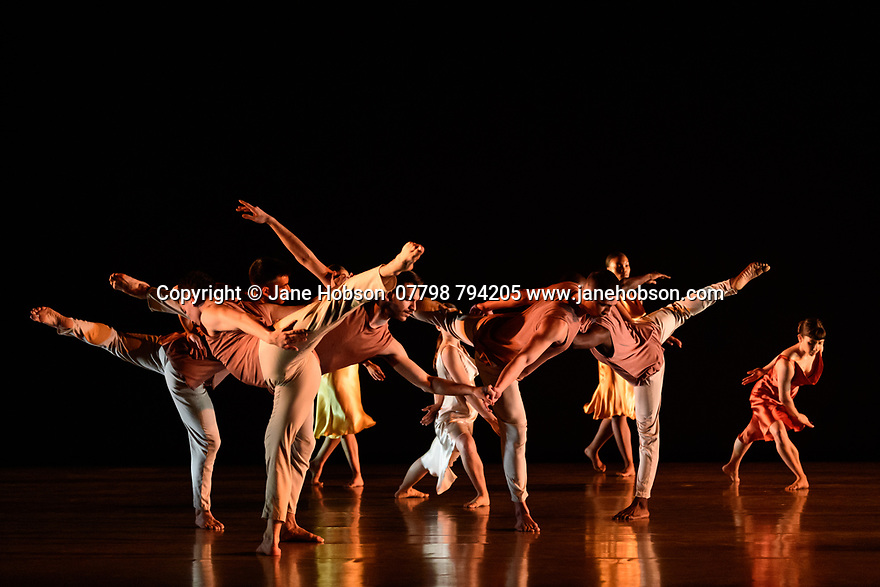 Richard Alston Dance Company in dress rehearsal of VOICES AND LIGHT FOOTSTEPS ahead of the company's final performances on 7th & 8th March 2020. the dancers are: Elly Braund, Niall Egan, Alejandra Gissler, Joshua Harriette, Jennifer Hayes, Monique Jonas, Nahum McLean, Nicholas Shikkis, Jason Tucker, Ellen Yilma.