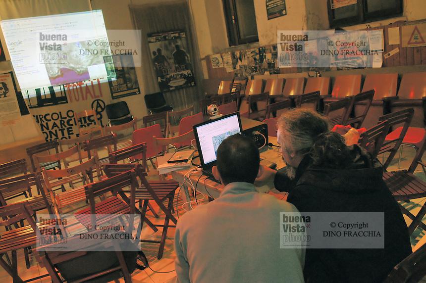 - anarchist social center Ponte della Ghisolfa, Google satellite maps service....- centro sociale anarchico Ponte della Ghisolfa, servizio mappe satellitari Google