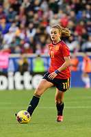 HARRISON, NJ - MARCH 08: Alexia Putellas #11 of Spain during a game between Spain and USWNT at Red Bull Arena on March 08, 2020 in Harrison, New Jersey.