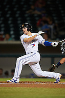 Mesa Solar Sox Danny Jansen (5), of the Toronto Blue Jays organization, during a game against the Peoria Javelinas on October 15, 2016 at Sloan Park in Mesa, Arizona.  Peoria defeated Mesa 12-2.  (Mike Janes/Four Seam Images)