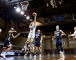 SIOUX FALLS, SD - MARCH 8: Alex Arians #34 of the South Dakota State Jackrabbits lays the ball up against the Oral Roberts Golden Eagles during the Summit League Basketball Tournament at the Sanford Pentagon in Sioux Falls, SD. (Photo by Richard Carlson/Inertia)