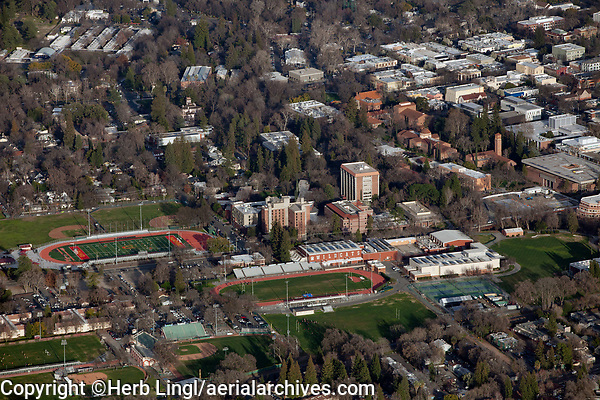 aerial photograph Chico State University, Butte County, California