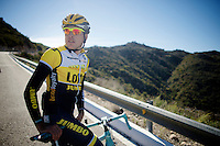 Kevin De Weert (BEL/LottoJumbo)<br /> <br /> Team Lotto Jumbo winter training camp<br /> Mojácar, Spain, January 2015