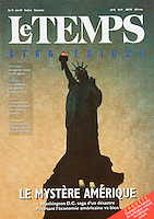 "Cover of the June 1996 issue of ""Le Temps"" Magazine.<br />