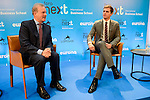 Albert Rivera and Manuel Campo Vidal during the informative breakfast organized by IESE Business School in Madrid. November 08, 2016. (ALTERPHOTOS/Borja B.Hojas)