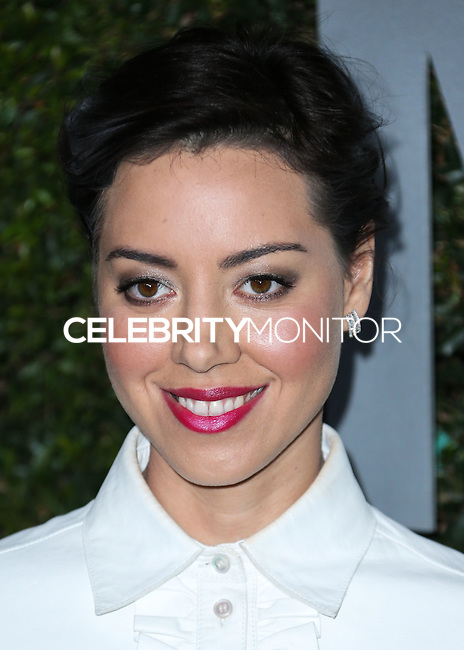 BEVERLY HILLS, CA, USA - OCTOBER 02: Aubrey Plaza arrives at Michael Kors Launch Of Claiborne Swanson Franks's 'Young Hollywood' Book held at a Private Residence on October 2, 2014 in Beverly Hills, California, United States. (Photo by Xavier Collin/Celebrity Monitor)