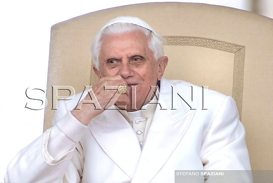 Pope Benedict XVI during his weekly general audience in St. Peter square at the Vatican, Wednesday March 28, 2007.