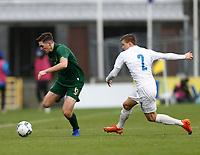15th November 2020; Tallaght Stadium, Dublin, Leinster, Ireland; 2021 Under 21 European Championships Qualifier, Ireland Under 21 versus Iceland U21; Conor Coventry (Republic of Ireland) gets away from Daoi Freyr Arnarsson (Iceland)