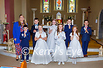 Kilmurry NS pupils who received their First Holy Communion in  Cordal on Saturday
