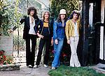 Queen 1975 Brian May, Roger Taylor, John Deacon and Freddie Mercury.© Chris Walter.
