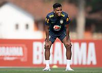 7th October 2020; Granja Comary, Teresopolis, Rio de Janeiro, Brazil; Qatar 2022 qualifiers; Rodrygo of Brazil during training session
