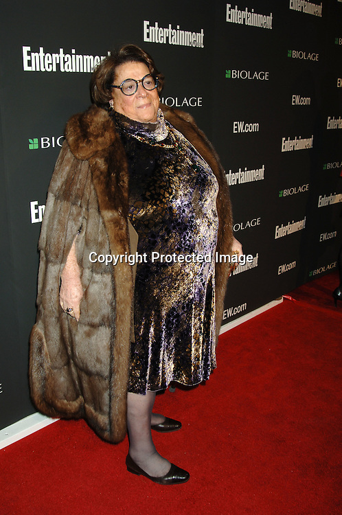 Elaine Kaufman ..arriving at The 12th Annual Entertainment Weekly Oscar Party on March 5, 2006 at Elaine's. ..Robin Platzer, Twin Images