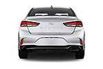 Straight rear view of a 2018 Hyundai Sonata SEL 4 Door Sedan stock images