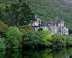County Galway, Ireland<br /> Kylemore Abbey on Kylemore Lough