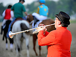 15 May 09:  Sam The Bugler plays the call to post at Pimlico Race Course in Baltimore, Maryland on Black-Eyed Susan Day.