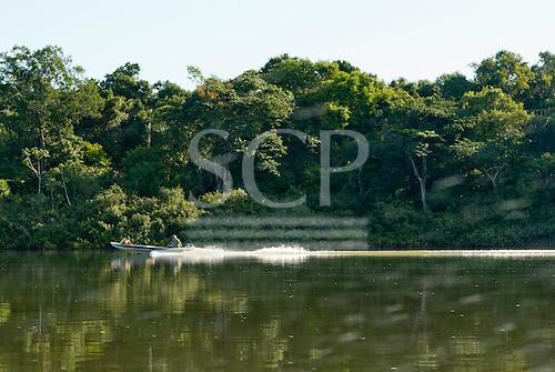 Pará State, Brazil. Fishing boat on the Xingu River.