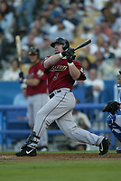 Jeff Bagwell of the Houston Astros during a 2003 season MLB game at Dodger Stadium in Los Angeles, California. (Larry Goren/Four Seam Images)