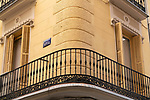 Empty balconies on the Calle de la LIbertad of Madrid during the health crisis due to the Covid-19 virus pandemic - Coronaviruss. April 26,2020. (ALTERPHOTOS/Jesus Anton JAM)